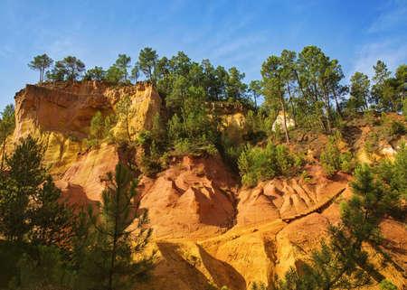 ochre: Ochre rocks in Roussillon,Provence