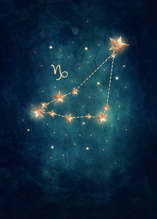 astrological: Capriconus astrological sign in the Zodiac