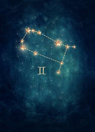 stars sky: Gemini astrological sign in the Zodiac