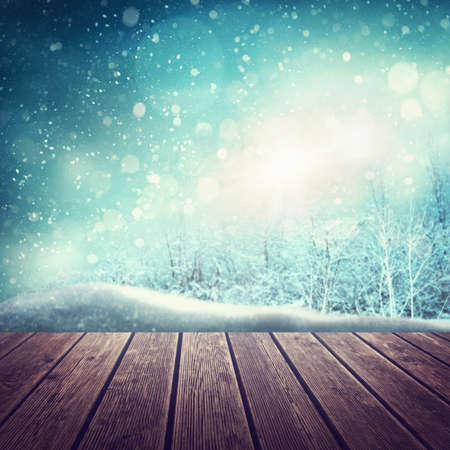 Abstract winter background with snow