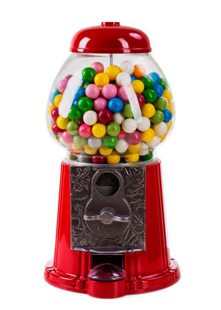 automat: Carousel Gumball Machine Bank isolated on a white background