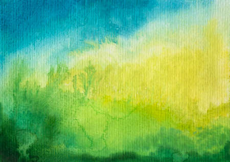 Abstract green blue watercolor background