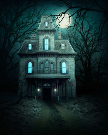 Haunted house in the forest