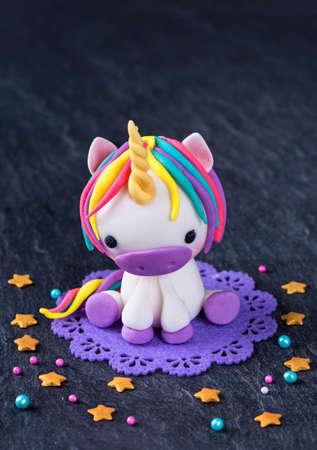 Unicorn cake topper for cake