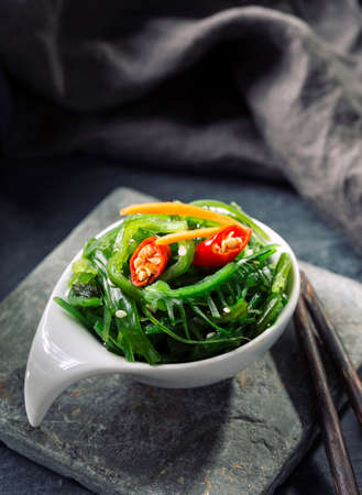 Japanese seaweed salad in a bowl Stock Photo