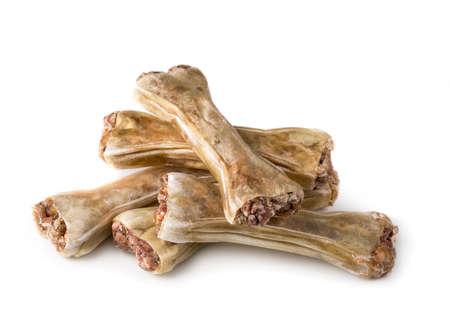 Dog chew bone isolated on a white background