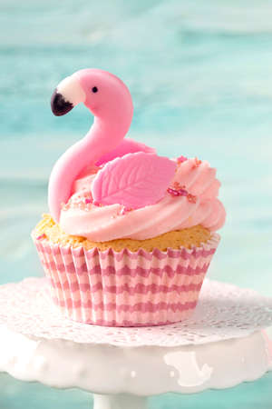 Flamingo cup cake for party
