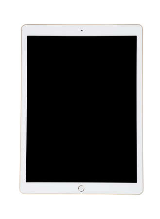 White Ipad tablet with black screen for your picture