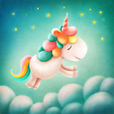Illustration of a cute unicorn