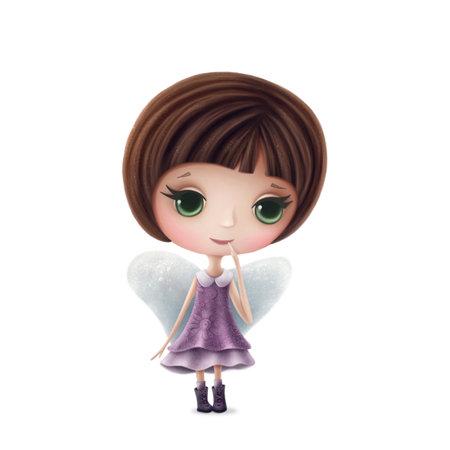 Illustration of Virgo girl isolated on a white background