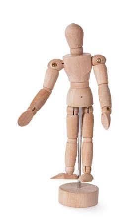 Wooden man model for paiting Standard-Bild