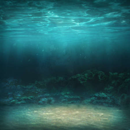 Underwater abstract background with copy space Standard-Bild