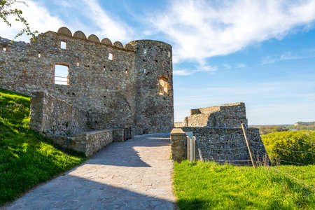 Sloavakia, Devin castle: Wall of old historical ruin of Devin castle 新聞圖片