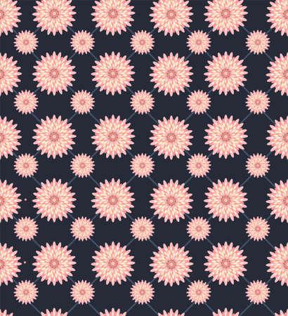 Seamless beautiful flower background. Chamomile seamless pattern. Stock Illustratie
