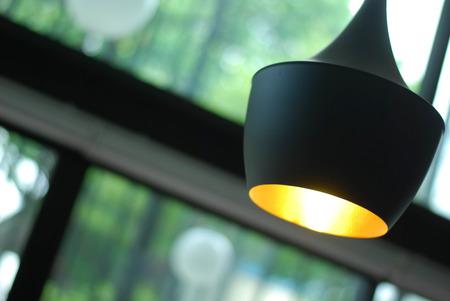 black pendant lamp photo
