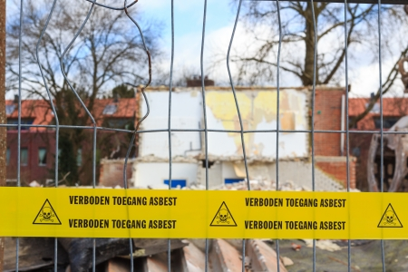 abatement: Yellow tape with Dutch text