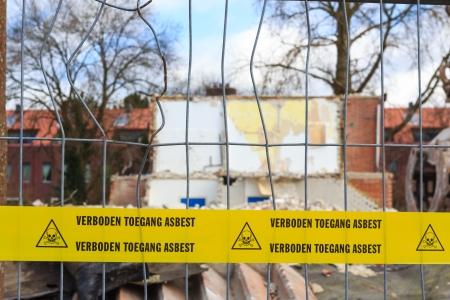hazard tape: Yellow tape with Dutch text
