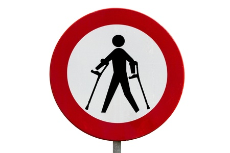Prohibited area for persons with reduced mobility photo
