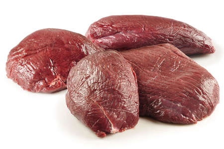 whose: raw meat pieces ready to cook. recorded in the studio with whose background