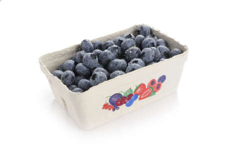 kerneudikotyledonen: blueberries in cardboard tray