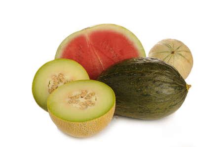 i net: juicy melon photaographet on wihite background on studio