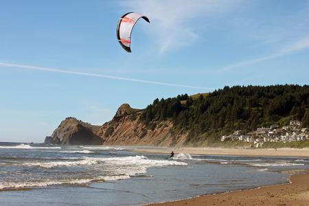 kiteboarding: Kite Surfer in Lincoln City, Oregon