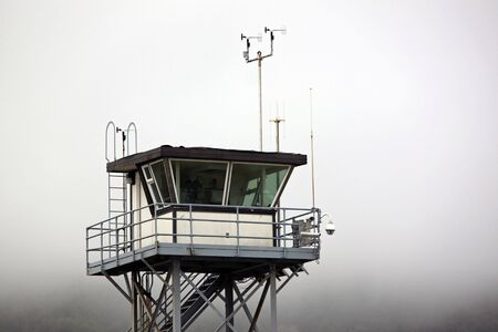 coast guard: Coast Guard Tower Overlooking the Pacific Ocean Stock Photo