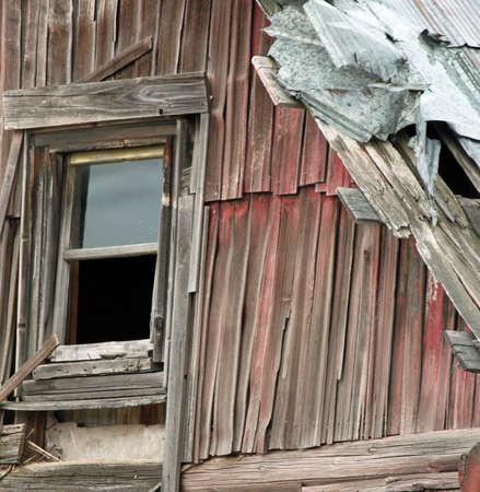 coutryside: Closeup of Broken Barn Window