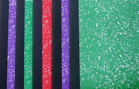 looseleaf: Colorful Composition Notebooks Stock Photo