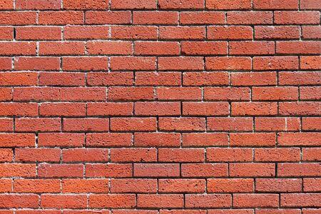 Closeup of a Red Brick Wall