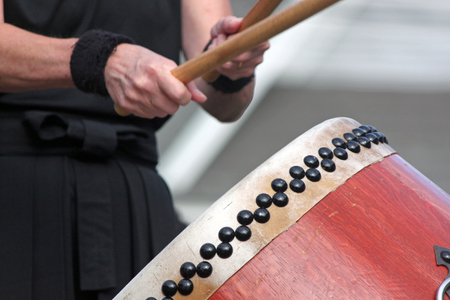 Closeup of a Taiko Drummer
