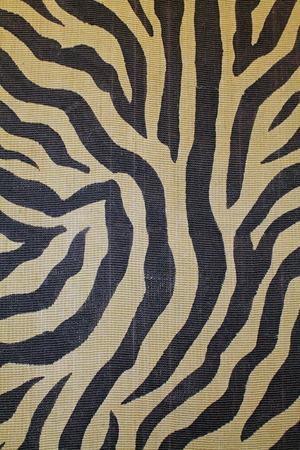 Closeup of a Zebra Print Tapestry Фото со стока