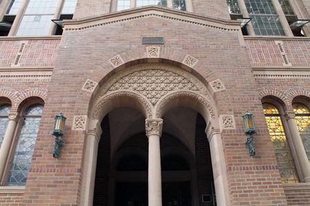 entryway: Entryway to a Fancy Brick Library