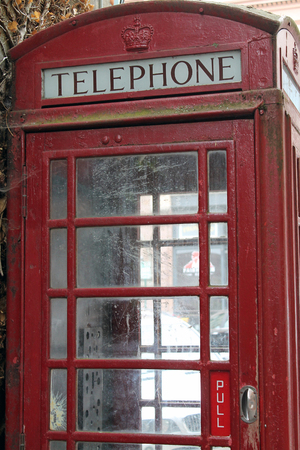 antique booth: Vintage Red Telephone Booth