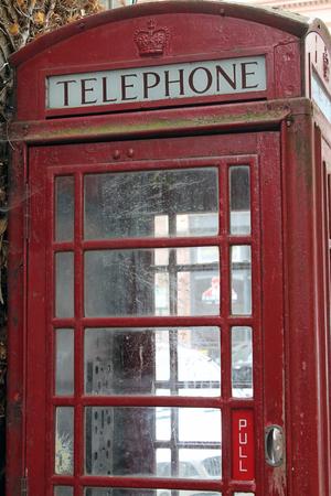Vintage Rode Telefooncel