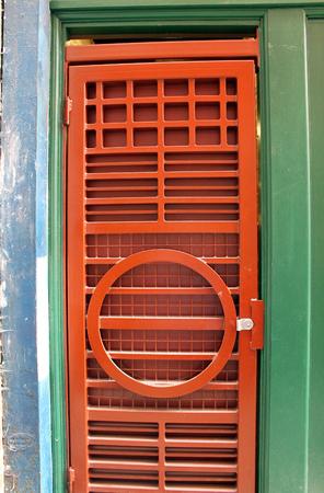 entryway: Ornamental Red Door