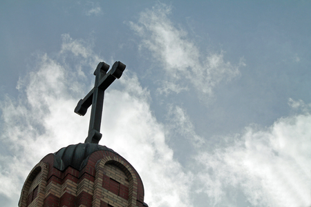 Cross Atop a Greek Orthodox Church