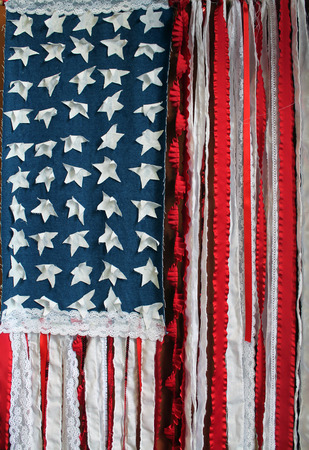old glory: Handcrafted American Flag