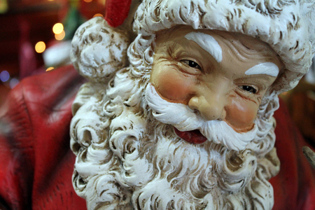 kringle: Closeup of a Santa Christmas Ornament