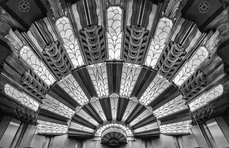 Art Deco Light at the Theater in Black and White