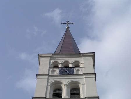 orison: Church tower Stock Photo
