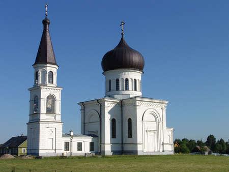 orison: White church Stock Photo