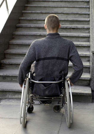 wheelchair access:         no access Stock Photo