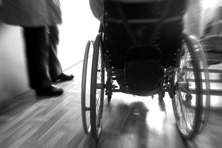 wheelchair  and foots Stock Photo - 408548
