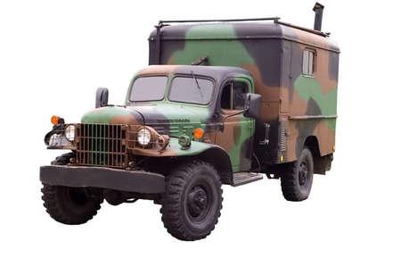 Military old dodge power wagon Stock Photo
