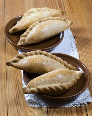 pasty: A traditional Karaite pasty Stock Photo