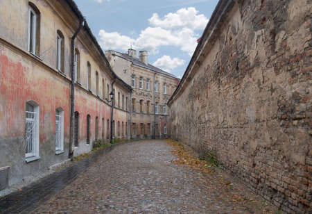 crannied: Vilnius old town streets in the fall