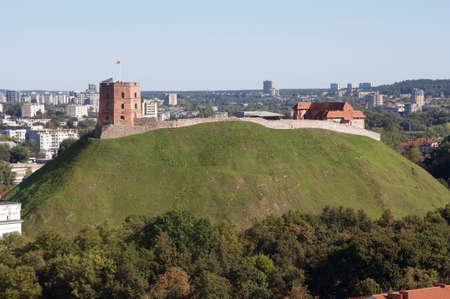 Tower of Gediminas. Vilnius. Lithuania. Stock Photo