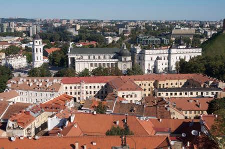 vilnius: View of Vilnius old town, Lithuania