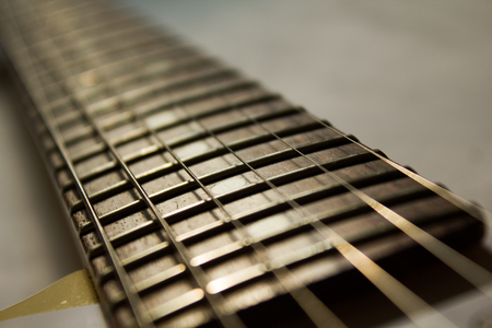 stratocaster: brown rosewood neck of a stratocaster, daytime